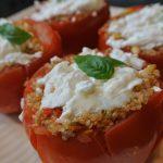 thermomix, thermomixrecepten, gevulde tomaat, quinoa, geitenkaas, gevulde groenten, recepten