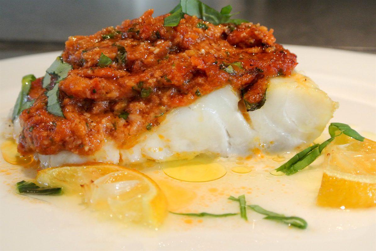 thermomixrecepten, Thermomix, visgerechten, kabeljauw, mediterrane keuken, vis, bruschetta