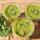 courgette soep, thermomix recepten, gazpacho, gazpacho recept, courgette, rucola, munt, hormoonbalans, kruisbloemigen, foodsoul, thermomix, thermomixrecepten, recepten thermomix, courgettesoep, soep van courgette, gazpacho van courgette