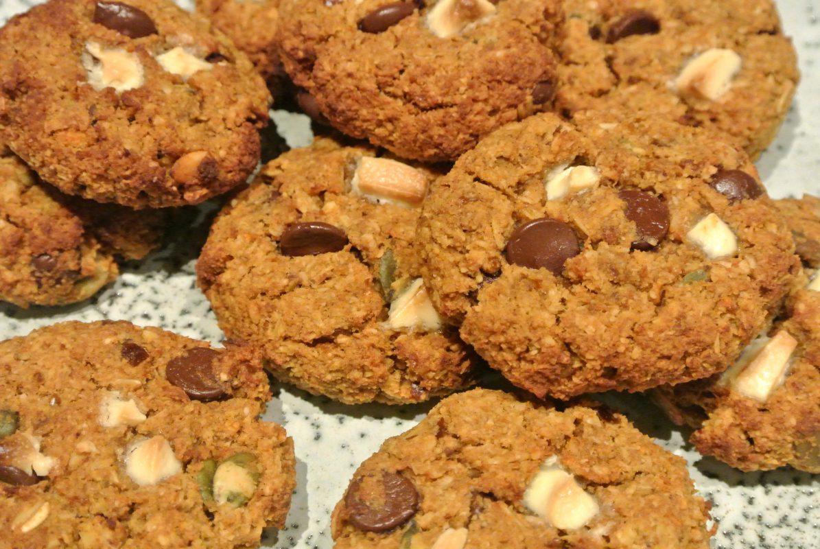 foodsoul, thermomix, thermomix recepten, cookies, chocolate cookies, pompoen, pompoeskoekjes, pumpkin cookies, glutenvrij, gezonde koekjes