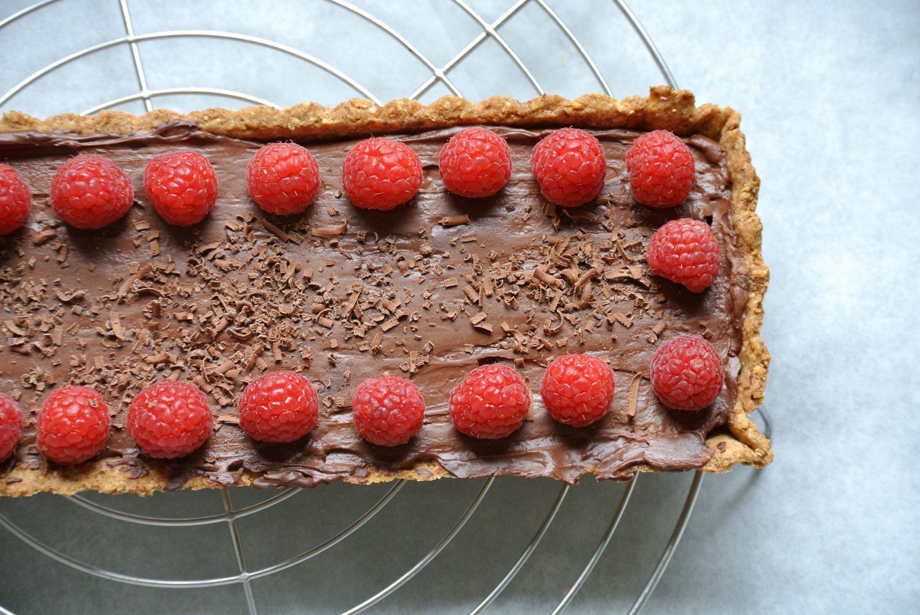 Foodsoul, Thermomix, chocola, chocolade, chocoladetaart, taart, zijden tofu, vegan, recepten, framboos, frambozen, tony's, gezonde recepten