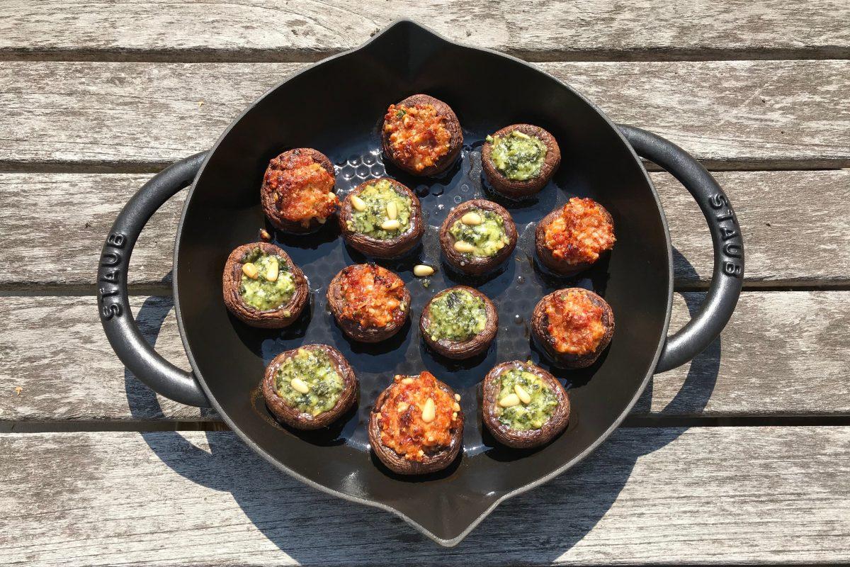 Gevulde champignons. Gezond Thermomix recept van Foodsoul.