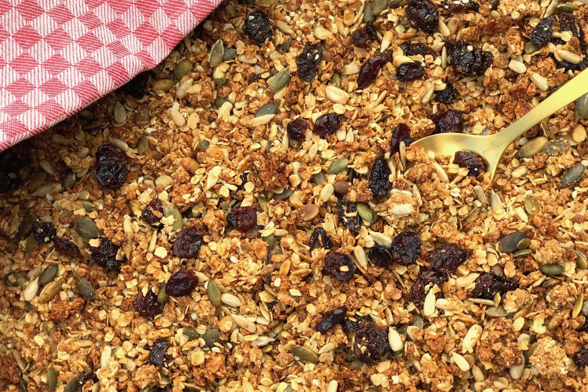 glutenvrij, granola, Thermomix, TM5, Thermomix recepten, havermout, foodsoul, gezonde recepten, ontbijt, glutenvrije granola,