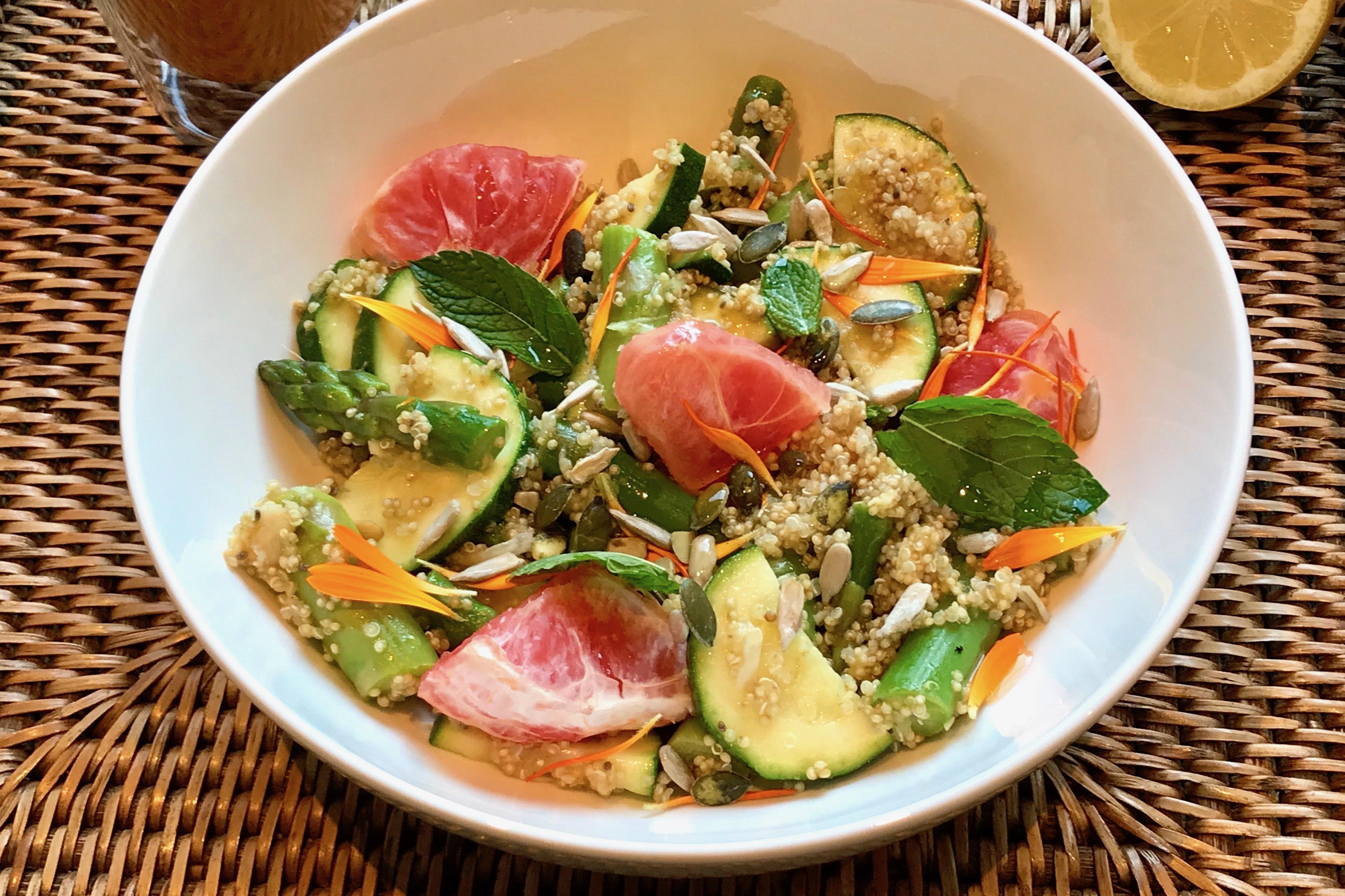Frisse quinoa salade een gezond Thermomix recept van Foodsoul